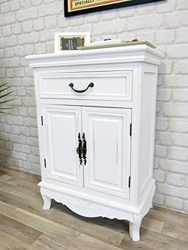 Elegance Kommode antik weiß, Landhaus, Shabby Chic, 53 x 75 x 30 cm