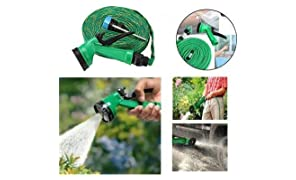 Anva Multifunctional Water Spray Gun for Plants Car Wash for Garden with Hose Pipe Indoor Outdoor Withra High Pressure Washer 10 Mtr (Green)