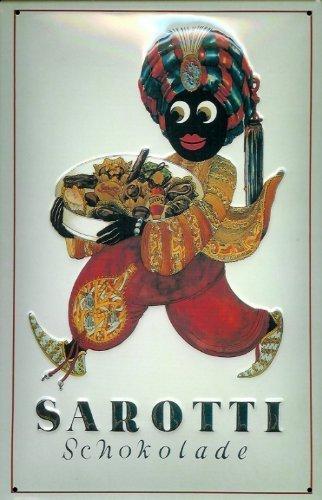 Blechschild Nostalgieschild Sarotti Mohr Schokolade Pralinen Schild retro Werbung