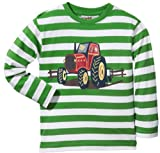 Kinderbutt Langarmshirt mit Druckmotiv Single-Jersey grün Größe 134/140
