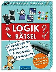 Logikrätsel: 50 Karten mit abwischbarem Stift