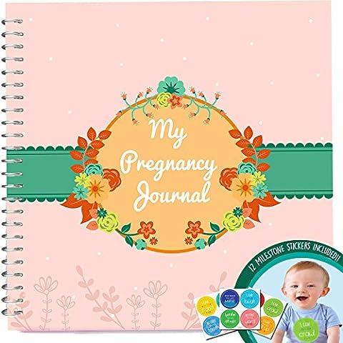 Diario de Embarazo + pegatinas–incondicional Rosie–Libro de Embarazo con 12hito pegatinas.