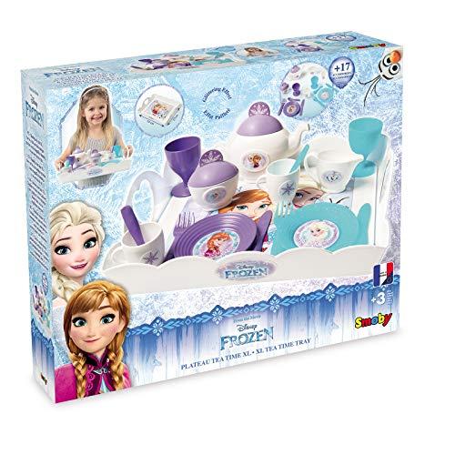 #1118 Disney Frozen Servier Tablett mit Geschirr für Kinder ab 3 Jahren - Princess Serviertablett...