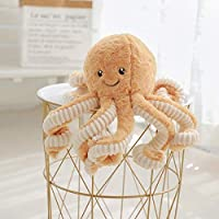 LQZDXD Ornaments Decorations Octopus plush toy doll toy doll birthday gift brown 40cm