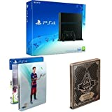 PlayStation 4 - Konsole (500GB, schwarz) [CUH-1216A] + FIFA 16 - Steelbook Edition + Assassin's Creed Syndicate - Special Edition inkl. Steelbook