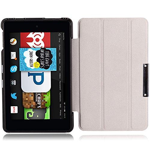 MoKo Etui Amazon Kindle Fire HD 6 2014 - Etui à rabat avec support ultra-mince et léger pour Tablette Amazon Kindle Fire HD 6 Pouces 2014, Cheval Fou JAUNE Indigo