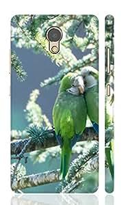 AMAN Love Parrots 3D Back Cover for Lenovo P2