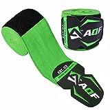 Bande de maintien sous gants de boxe AQF 4,5m MMA Muay Thai - Extensible, Green