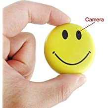 Mengshen HD Mini Espía Sonrisa Cara Insignia Wearable Cámara Oculta Cool Spy Gadget Mini DV DVR Videocámara Video Recorder MS-HC38