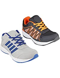 Redon Men's Pack Of 2 Sports Running Shoes (Running Shoes, Jogging Shoes, Gym Shoes, Walking Shoes) - B074HFBVNK