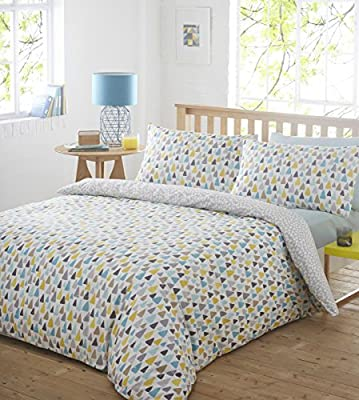 Pieridae Raindrops Duvet Cover & Pillowcase Set Bedding Rain Drop Quilt Case Single Double King Bedding Bedroom Daybed produced by Pieridae - quick delivery from UK.