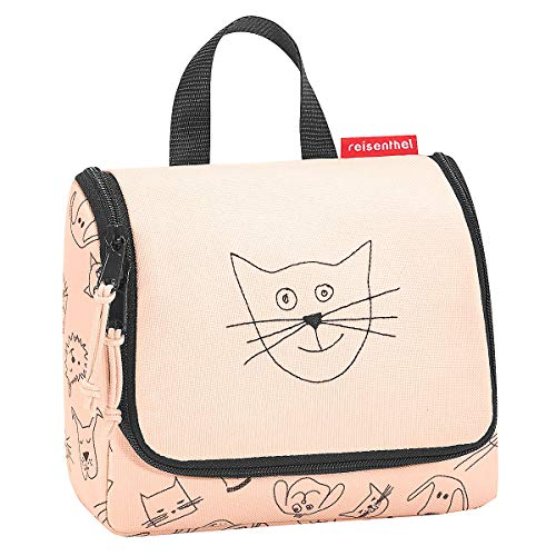 reisenthel toiletbag cats and dogs rose Maße: 23 x 20 x 10 cm / Maße: 23 x 55 x 8,5 cm expanded / Volumen: 3 l