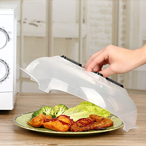 Mikrowelle Teller, verhindern Lebensmittel Splatter Cover & #-; Hover adsorbed Funktion und sicher bequem, mit Magnetverschluss & #-; gleichmäßig verteilt Dampf outlet-11.5in 1-pack (Mikrowellen-dampf-cover)