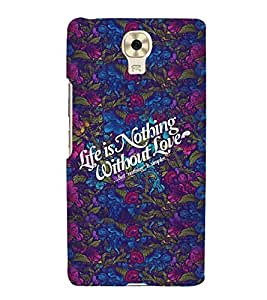 Fiobs floral diluted theme life lesson life is nothing without love Designer Back Case Cover for Gionee M6