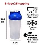 #5: Gym Sipper Shaker with Transparent Body and Assorted Cap / Plastics Super Shaker / Protein Shaker / Classic Protein Shaker Bottle - 600 ML - Color May Vary