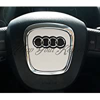 Raso bianco airbag Steering Wheel Wrap S RS A1A3A4A5A6A8TT Q3Q5Q7