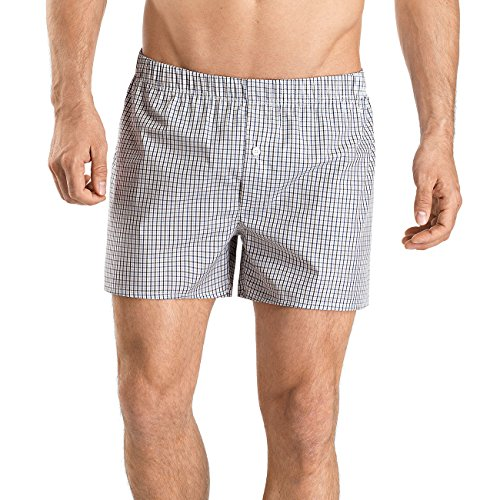 Hanro Herren Boxershorts Fancy Woven Mehrfarbig (Shaded Check 1097)