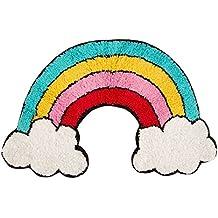 Sass & Belle Rainbow - Alfombra con Forma de Nubes