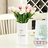 XPHOPOQ La American estilo flores artificiales El Tulip muy elegante home Decoración Rosa