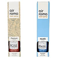 AirRoma Combo of Rose Milk Fragrance Air Freshener Spray 200 ml & Atlantic Breeze Fragrance Air Freshener Spray 200 ml
