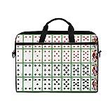 Ahomy Pokerkarten 14-15,4 Zoll Multifunktionale Stofftasche Wasserdicht Laptop Tasche Aktentasche Schultertasche Messenger Bag