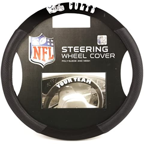 NFL Indianapolis Colts Poly-Suede Steering Wheel Cover