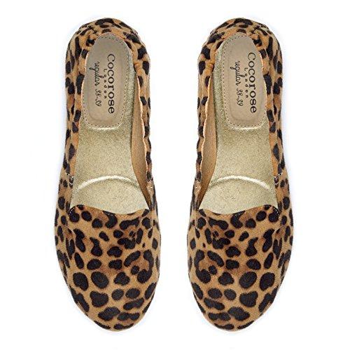 Chaussures Pliantes Cocorose - Carnaby Chaussures De Danse Léopard Pour Femmes