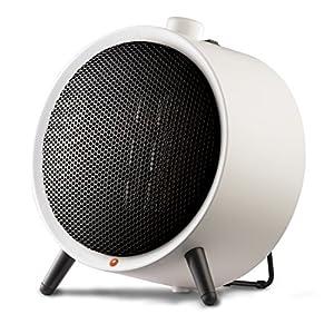 Honeywell HCE200WE4 Calefactor cerámico redondo 1500 W, color blanco, 900 W