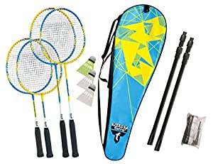 Talbot-Torro Badminton-Set Family, Komplettset mit 2 Juniorschläger 53 cm, 2...