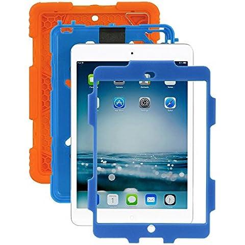 iPad Mini 1/2/3caso, ACEGUARDER® para niños Slim Militar Heavy Duty Smart Cover función atril a prueba de golpes Prueba de Niños Resistente al agua drop resistencia con función atril para Apple iPad Mini
