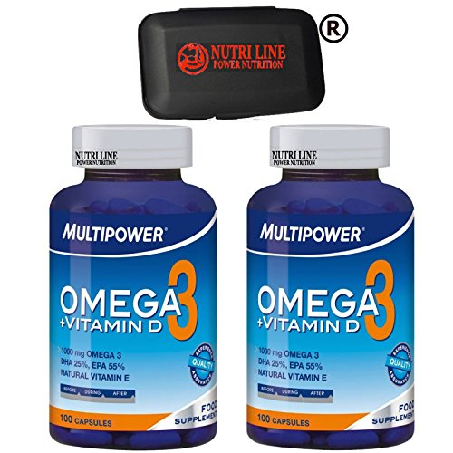 MULTIPOWER OMEGA 3 + VITAMINA D 2x 100 cps. + PORTAPILLOLE NUTRILINE