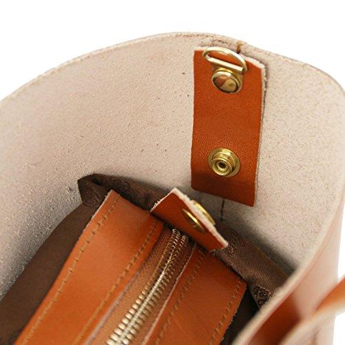 Tuscany Leather Ilaria Tasche aus Leder mit herausnehmbarer Innentasche Schwarz Honig