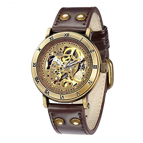 HWCOO Orologi meccanici Orologio da uomo automatico con cinturino meccanico automatico SHENHUA / 9584 (Color : 1)