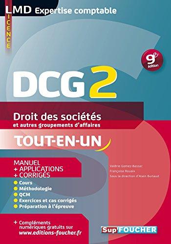 DCG 2 - Droit des sociétés et autres groupements d'affaires - Manuel et applications - 9e édition