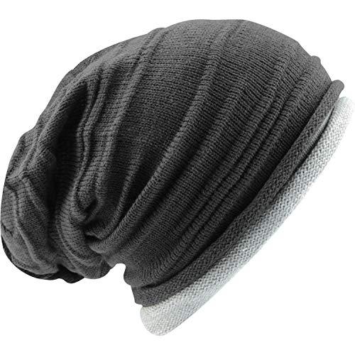 Cultz Truth Hat Unisex Damen Herren Streetwear Beanie Strickmütze Long Beanie gemütliche Passform Mütze Wintermütze OSFM