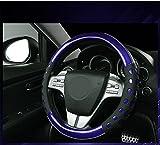 #7: NIKAVI Car Fashion Steering Wheel Cover (BLUE)