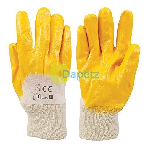Daptez® 1x schiena aperta in Nitrile Guanti per lavoro e gestione in metallo robusto