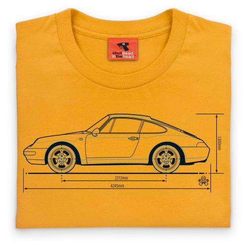 PistonHeads 933 Sports Car T-shirt, Uomo Giallo