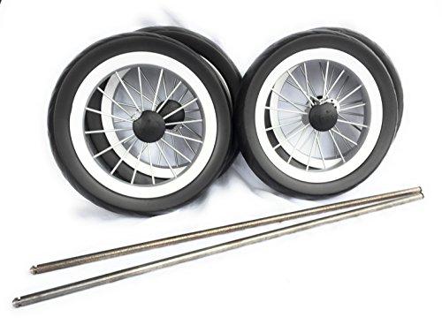 Radsatz für Selbstbau Leiterwagen 4 Räder & 2 Achsen 550mm NEU