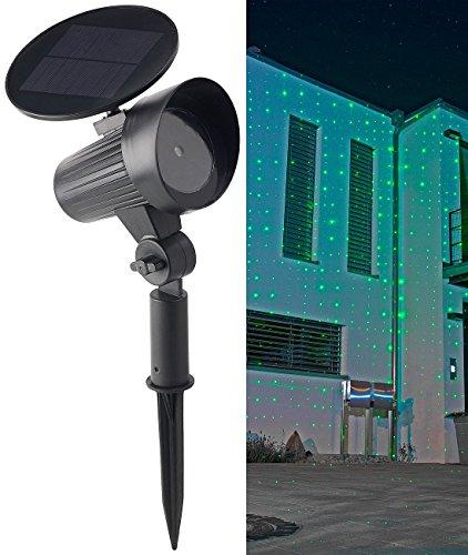 Lunartec Laserlicht: Solar-Laser-Projektor mit grünem Sternenmeer-Effekt, IP44 (Garten-Laser Solar)