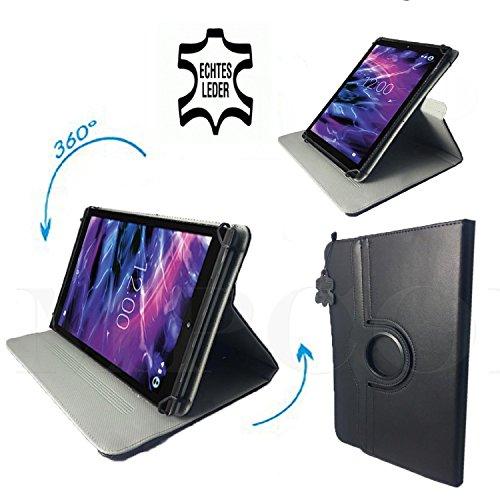 Lenovo IdeaPad Miix 300-10IBY - Tablet Leder Tasche / Schutzhülle mit 360° Dreh und Standfunktion - 9,7 Zoll 360° Echtleder