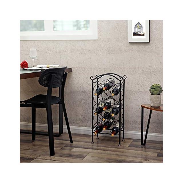 pour Cuisine Salle de Bain LSN03B Support en Fer forg/é SONGMICS /Étag/ère Murale