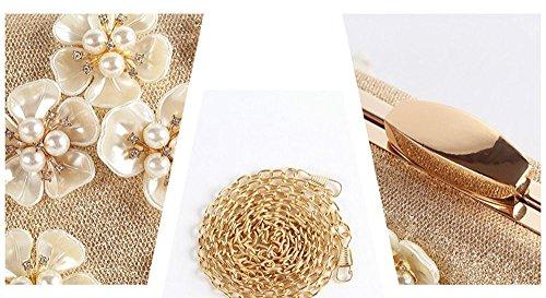 YOUAREFACNY  YAE-1005-2, Damen Clutch Gold gold Einheitsgröße schwarz