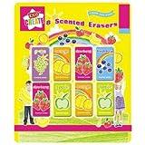 Lot de 8gommes parfumées senteur fruit - Jouet pour Noël-Emballées individuellement - Pour enfant