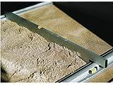 Triuso Abziehlehre 125 cm passend zu Grundschiene Trockenschüttgutlehre Abziehlatte Pflastern Abziehlehre Abziehschiene