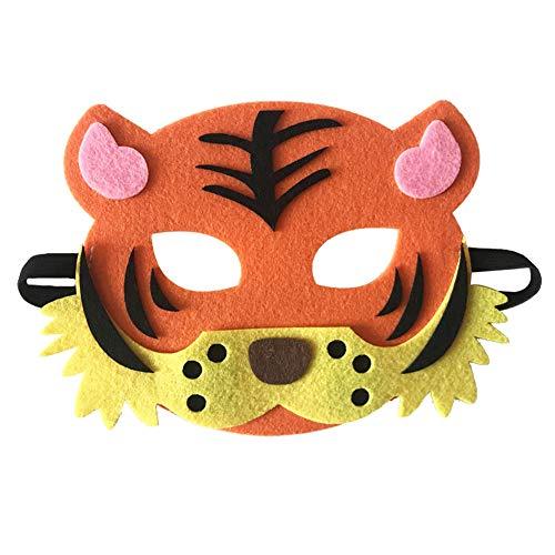 Weiblich Fox Kostüm - Starall Kinder Halloween Masken Niedlichen Tier Lion Tiger Fox Maskerade Party Kostüm Cosplay Prop (weibliche Tiger)