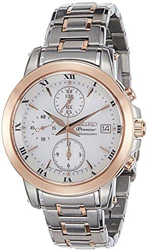Seiko Premier Chronograph White Dial Women's Watch - SNDV68P1