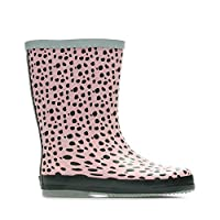 Clarks Tarri Splash Synthetic Wellies in Pink Combi