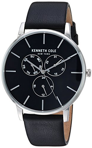 Kenneth Cole New York orologio da uomo con cinturino in pelle analog-quartz KC50008001