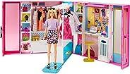 Barbie Dream Closet with Blonde Barbie Doll & 25+ Pieces G